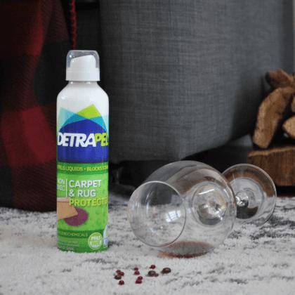 detrapel carpet & rug protector repels stains
