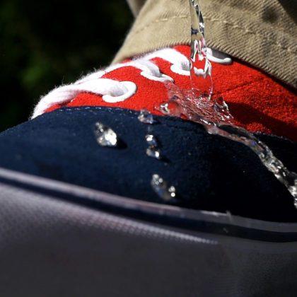 DetraPel Shoe & Sneaker Protector repels water and keeps footwear dry