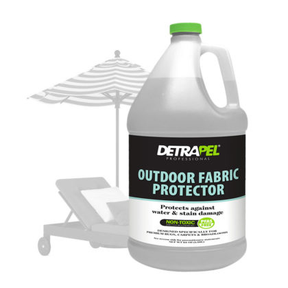 Professional Outdoor Fabric Protector 1 gallon by DetraPel. Protects patio furniture, outdoor cushions, umbrellas, awnings.