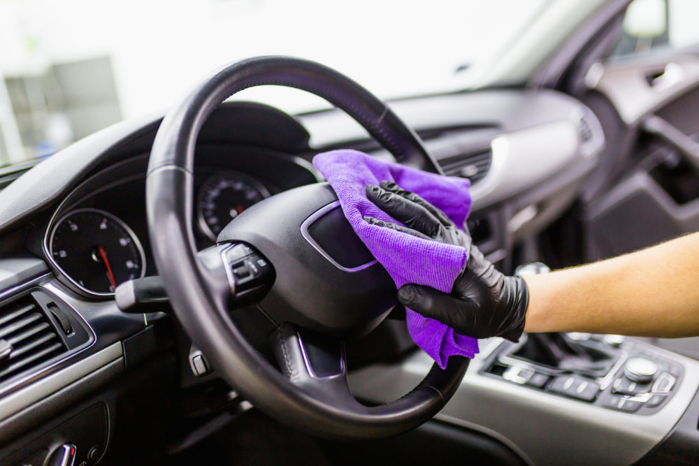 DetraPel ecoCleaner and Disinfectant is great to disinfect steering wheel and car door handles