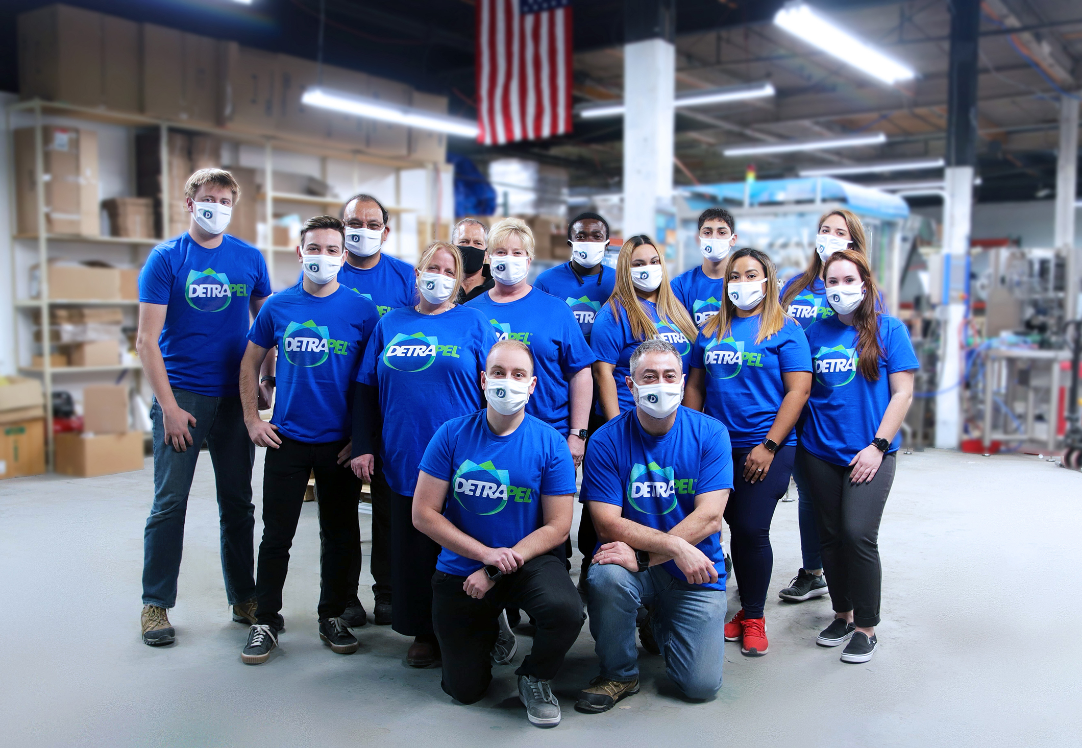 DetraPel's growing team, manufacturing all under one roof to provide quality assurance and reduce their carbon footprint.