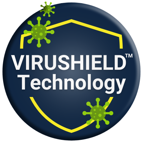 DetraPel VIRUSHIELD technology reduces chance of getting infected