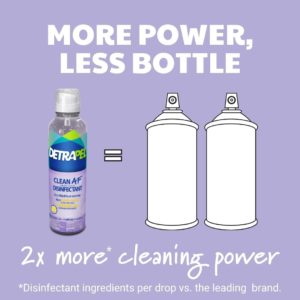 DetraPel CLEAN AF Disinfectant Gentle Floral scent , less is more