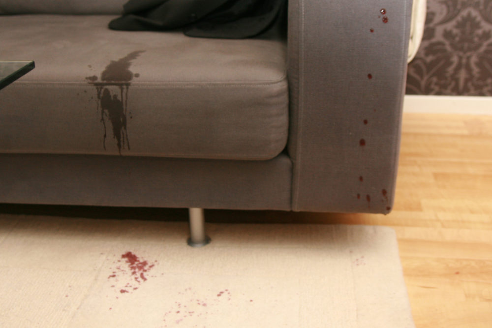 Stain on sofa - spilled wine