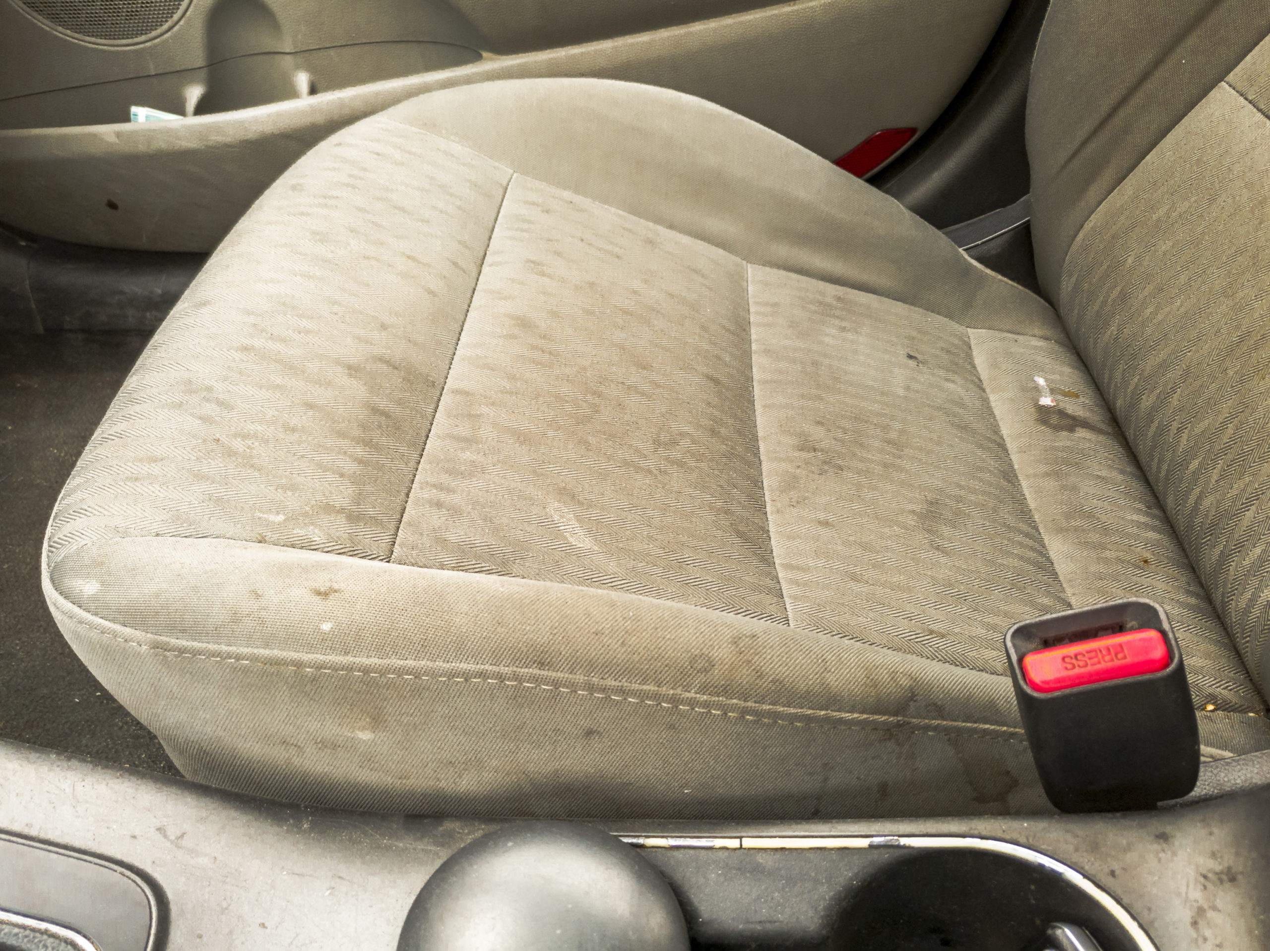 Stained car seats